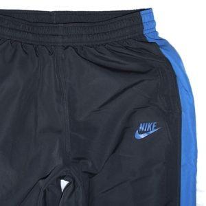 Nike Sportswear Zipper Leg Blue and Gray Pants M